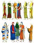 Assyrien, Mesopotamien. Kleider, Mäntel, Schals.
