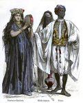 Ägypten. Tamburin Spielerin, Wasserträger, Diener.