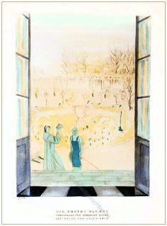 Parkanlage , Herrmann Rothe, Styl, Modemagazin, 1920er, Modegeschichte, Art deco,