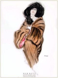 Diva, Pelzmantel, Regina Friedländer, Styl, Modemagazin, 1920er, Modegeschichte, Art deco,