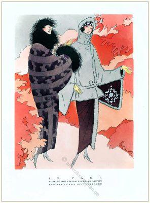 Pelzhaus, pelzmantel, Offterdinger, Styl, Modemagazin, 1920er, Modegeschichte, Art deco,