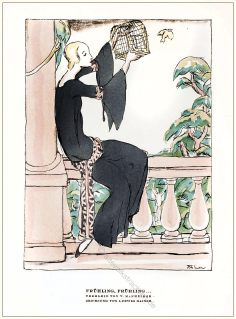 Valentin, Mannheimer, Teekleid, Styl, Modemagazin, 1920er, Modegeschichte, Art deco,