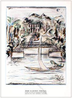 Parkanlage, Georg A. Kolbe, Herrmann Rothe, Garten, Yrgill, Styl, Modemagazin, 1920er, Modegeschichte, Art deco,
