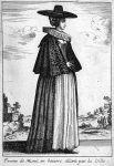 Eine Frau aus München 1643, von Wenzel Hollar.