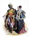 Polen. Kostüme des Adels. Anfang des 17. Jahrhunderts.