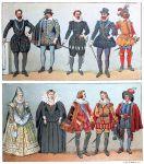 Die Mode in Frankreich von 1590 bis 1640.