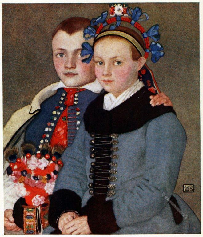 Marianne Stokes, Trachten, Slowakei, Menguszfalva. Mengušovce, Mengsdorf,