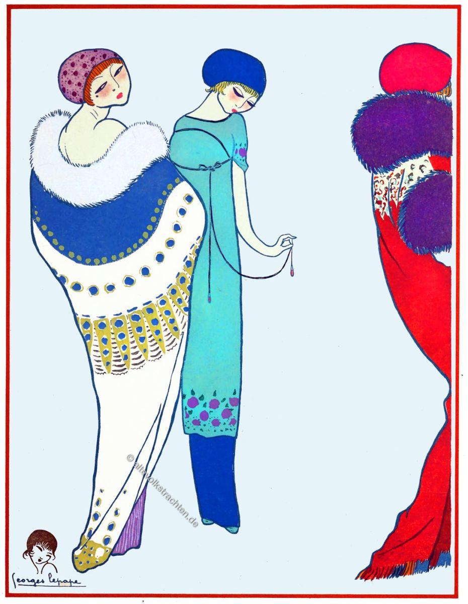 Paul Poiret, George Lepape, Art Deco, Mode, Illustration, fashion, Art déco, Costume, Kostüme