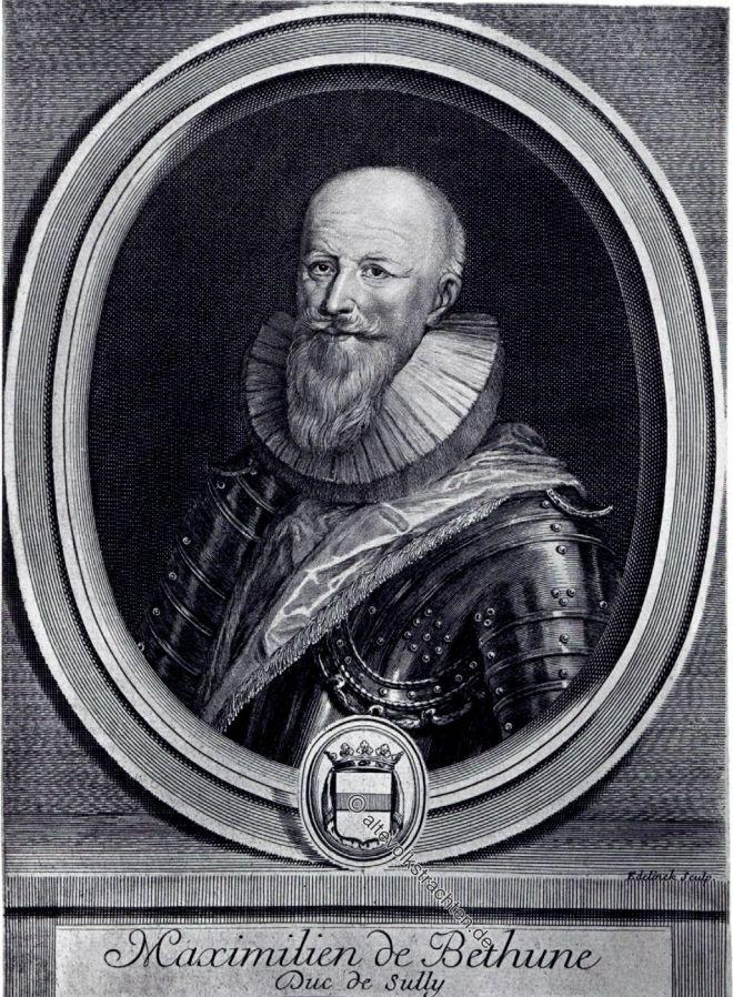 Maximilien de Béthune Herzog von Sully, Staatsmann, Politiker, Barock, Frankreich,