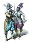 Musketier und Pikenier im dreissigjährigen Krieg.