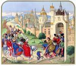 Der Einzug von Isabeau de Bavière in Paris.