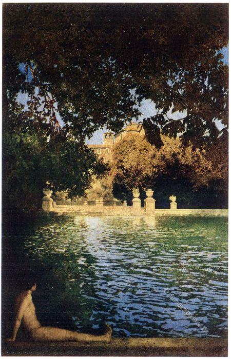 Italian villas, Garden, Pool, Villa D'Este, Tivoli, Lustgarten