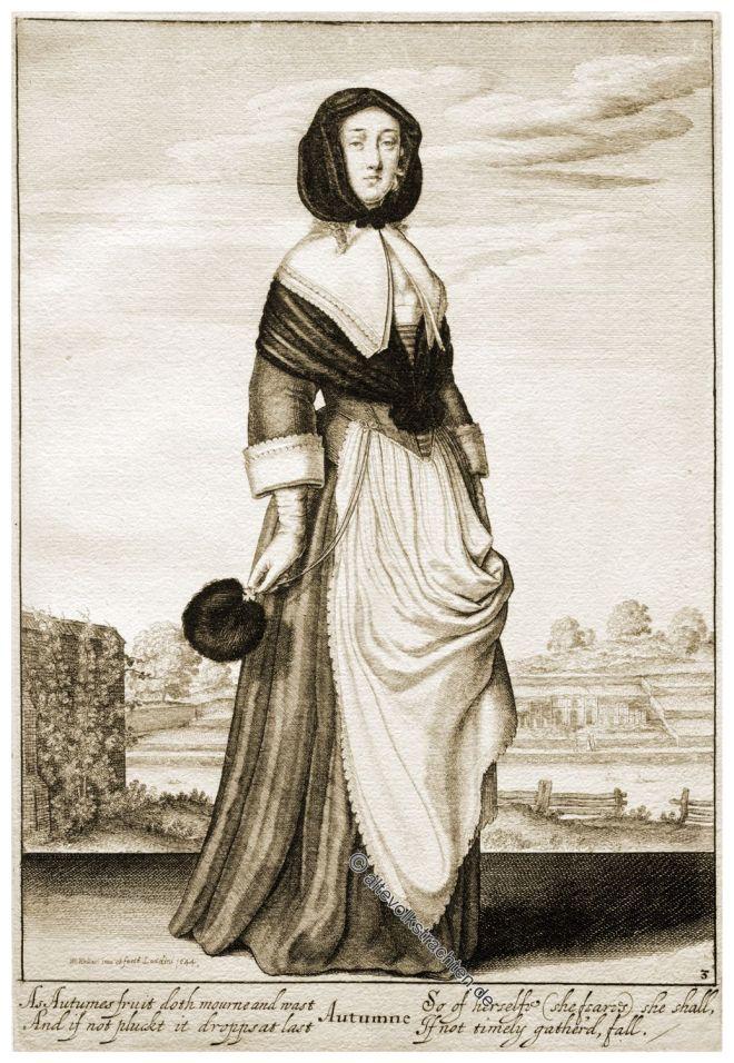 Wenzel Hollar, England, Kostüm, Barock, Mode