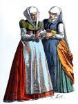 Historische Bürgerinnen Kleidung aus Nordrhein-Westfalen im 16. Jh..