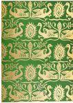 Tiermotive im Golddruck. Mittelalterlicher Seidenstoff des 13. Jh.