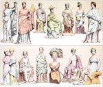 Tanagra und Klein-Asien. Kleidung des antiken Griechenland.