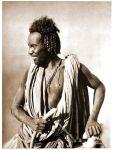 Assuan in Ägypten. Frau und Mann vom Volk der Bischari.