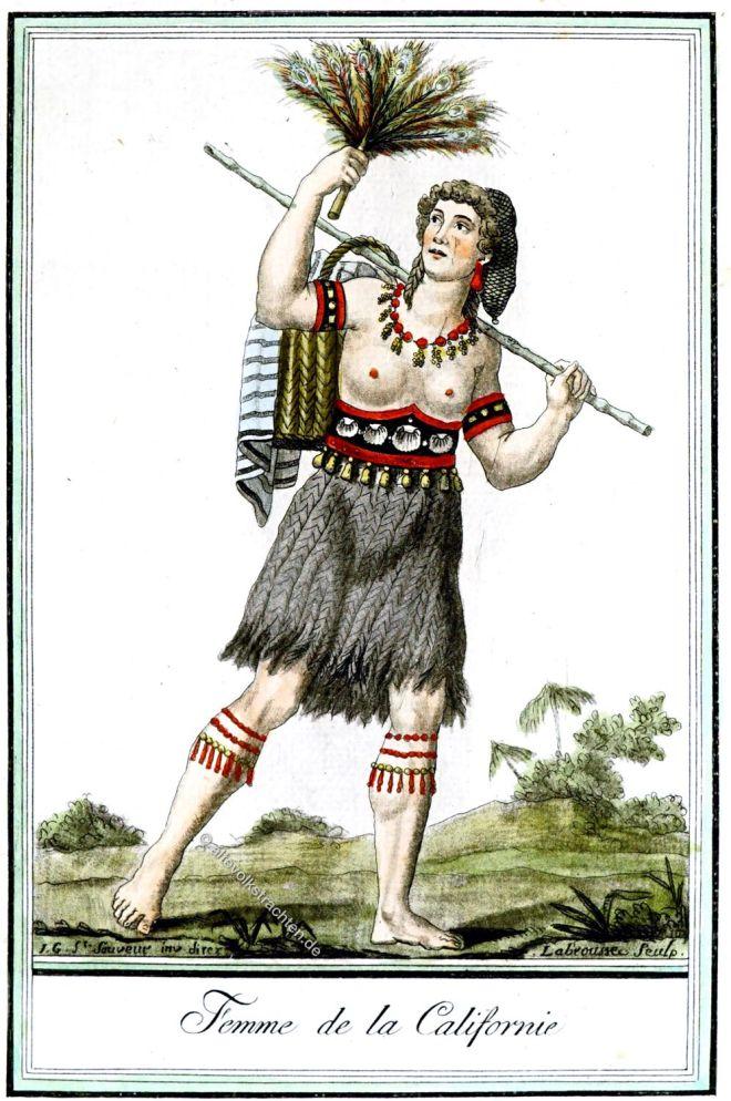 Californie, Ureinwohnerin, Kalifornien, Kleidung, Kostüm,