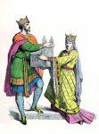 Fränkischer König und Königin im 10. Jh..