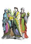 Fränkische adlige Frauen des 10. Jahrhunderts.