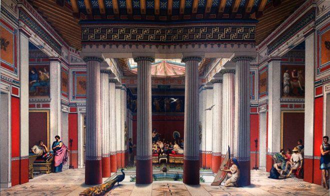 Peristyl, Griechenland, Architektur, Haus, Antike, thyroreum, Prostas, thalamus, antithalamus, Gynaikonitis