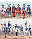Uniformen der französischen und Schweizer Garden des 18. Jh.