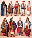 Slawische Trachten des osmanischen Reiches. Europäische Türkei.