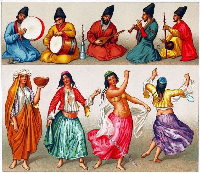 Tanzkostüme, Persien, Iran,  Musiker, Brauchtum, Musik, Kostüme, Bekleidung, Instrumente, Musiker