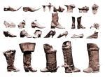 Fussbekleidungen 15. bis 19. Jh. Schuhmoden vom Mittelalter bis Rokoko.