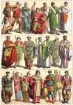 Basileus und Basilissa. Hohe Staatsbeamte. Byzanz. Oströmisches Reich.
