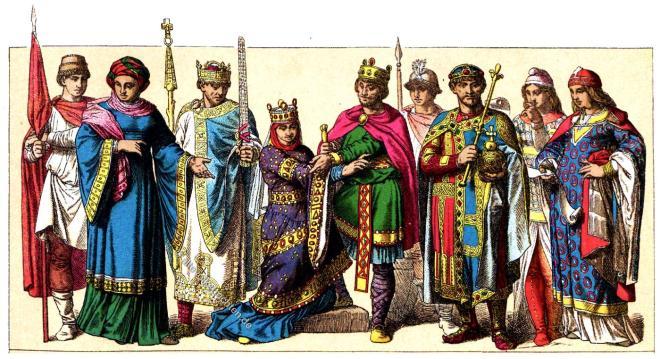 Deutsche Kultur, Kostüme, Mittelalter, Königsornat,  Friedrich Hottenroth