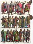 Frankreich. Krieger des Mittelalters von 700 bis 12. Jh.