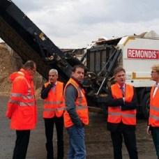 Matern von Marschall MdB & Patrick Rapp MdL im Altholzdialog im Unternehmen Remondis