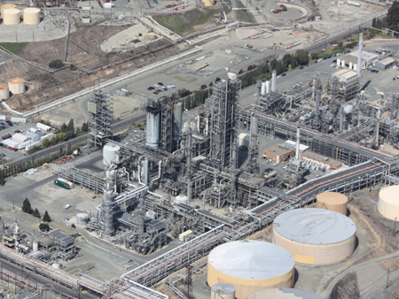 Refinery:  inspection and security surveillance by drone