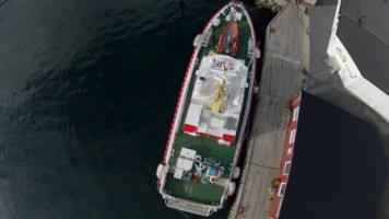 drone secours en mer vue aerienne bateau - Les drones en appui aérien pour le sauvetage en mer