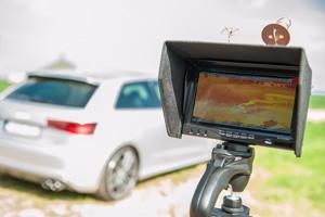 Caméra infrarouge thermique sur drone