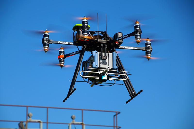Inspection industrielle par drone