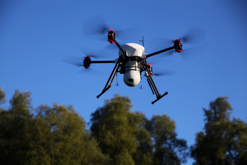 Drones aerial surveillance and security missions