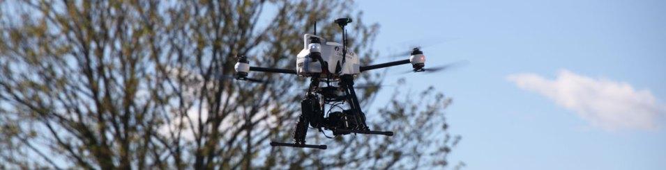 Drone de la Police en vol