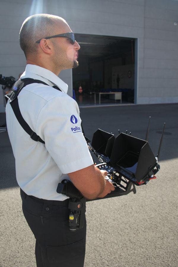 Opération de Police par drone