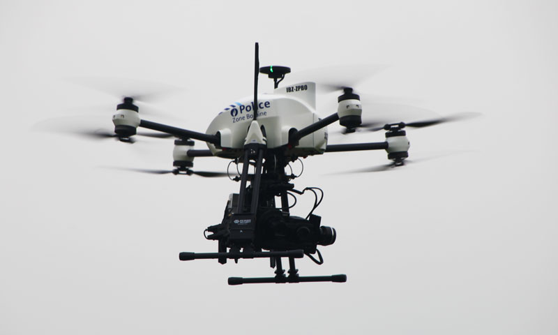 Police drone in operation