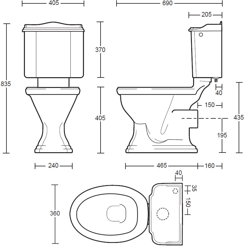 Imperial Drift Close Coupled Toilet Pan And Cistern