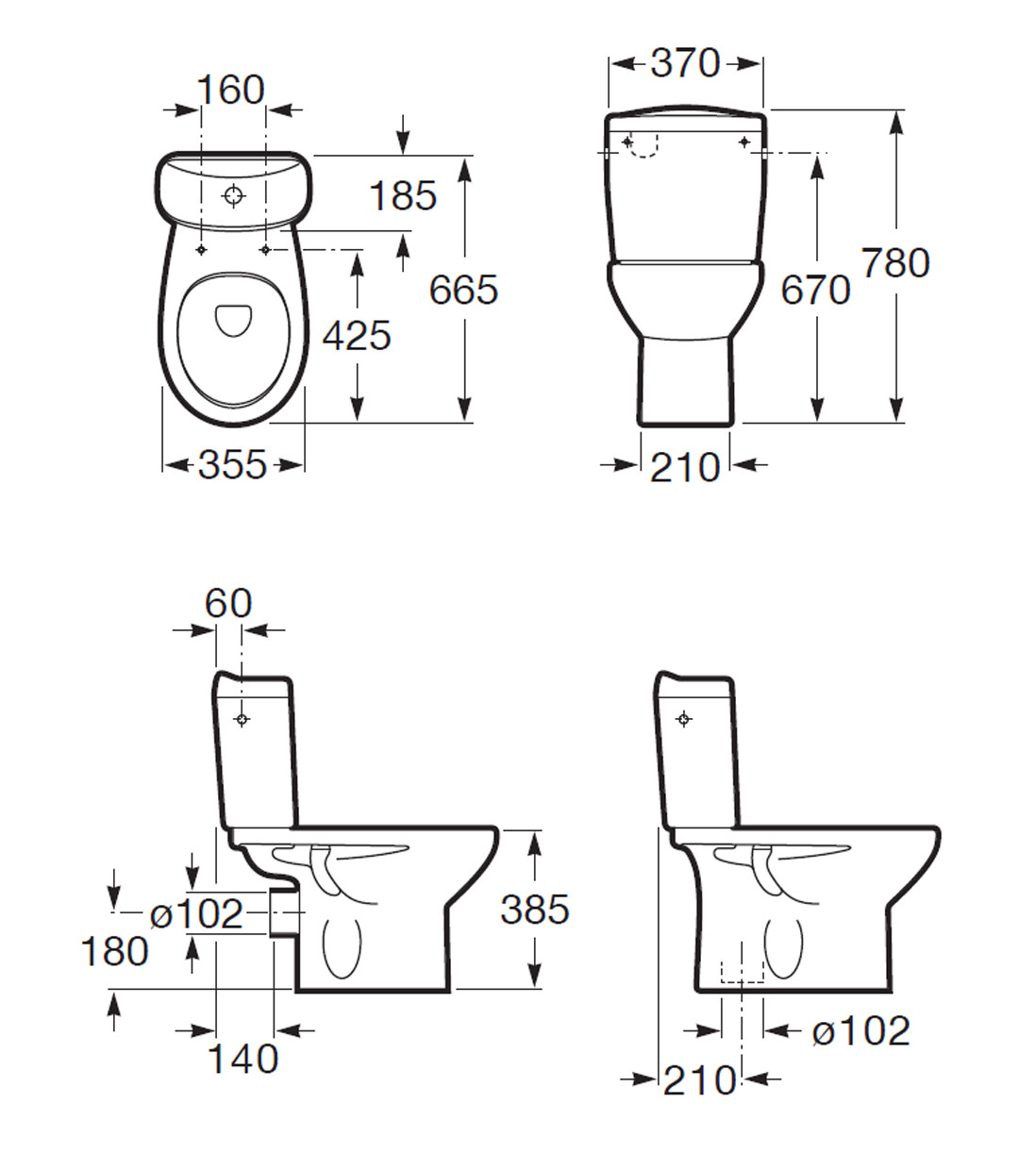 dual flush toilet cistern diagram 12 volt boat wiring roca laura eco close coupled wc pan including
