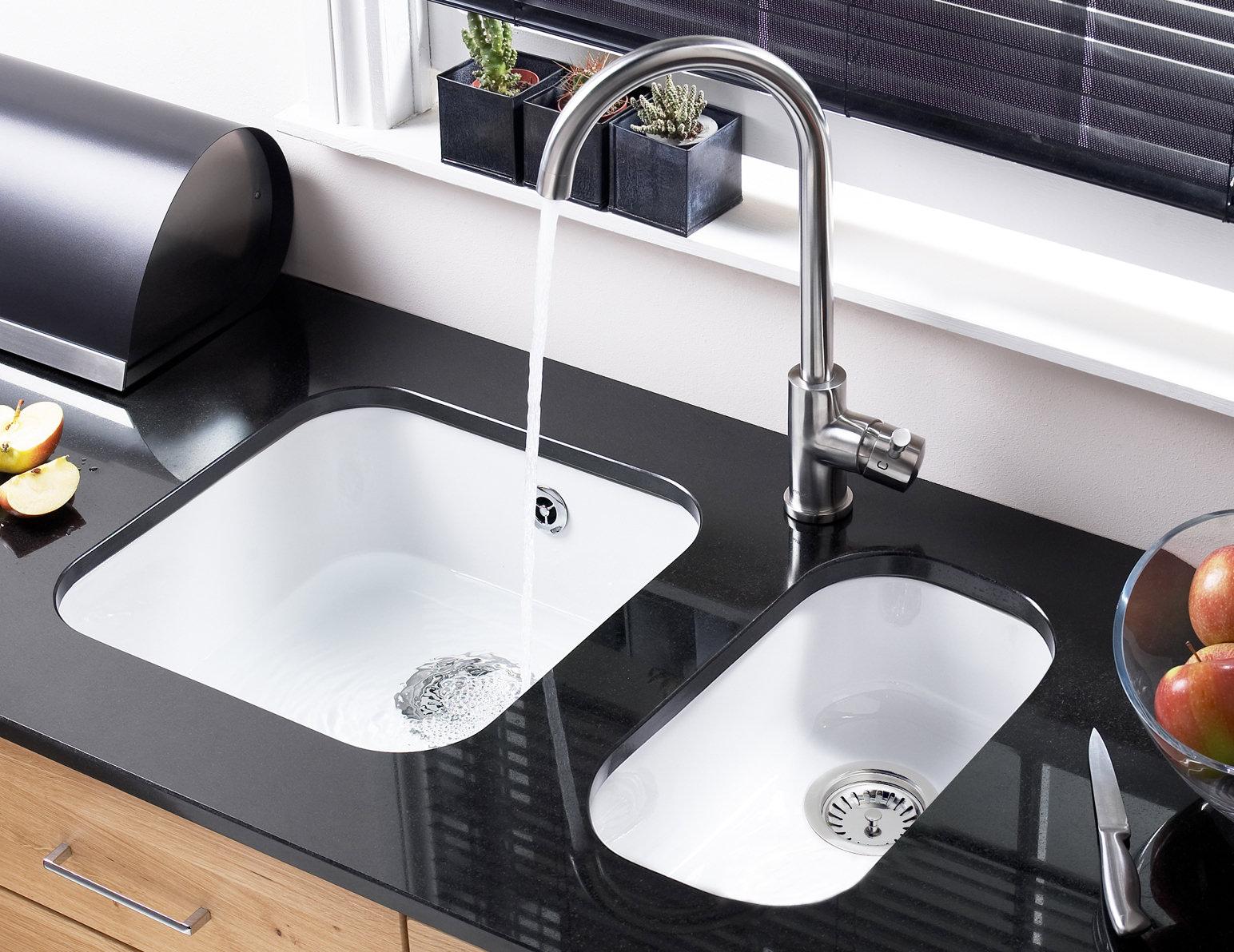 white kitchen sink undermount new astracast lincoln 4040 ceramic