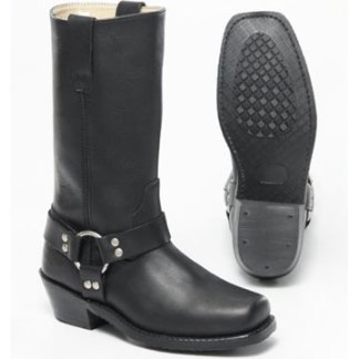 Western square toe harness boot for women