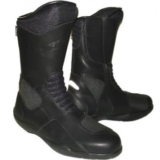 Full grain leather motorcycle boots