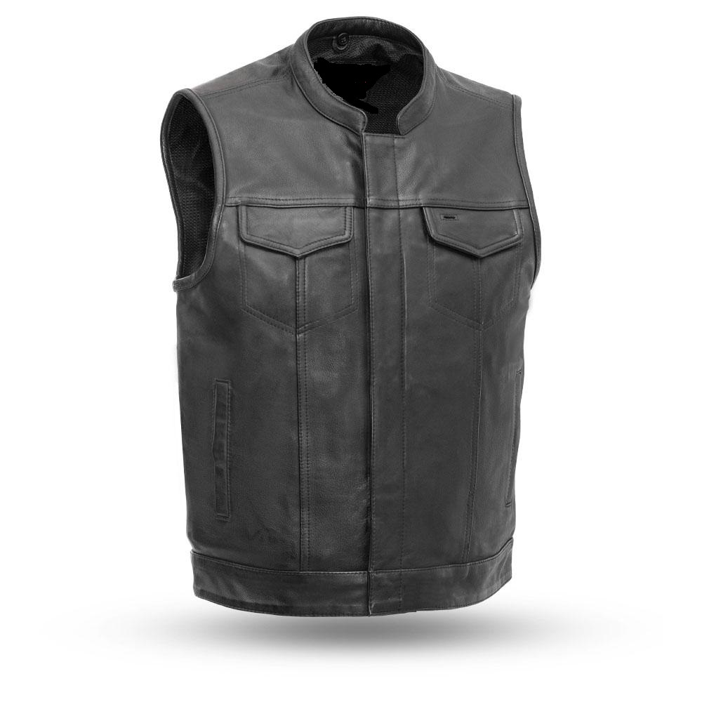 Racer Leather Mesh Cafe Jacket Mens Motorcycle Vents kZOiwPXuTl