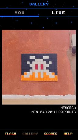 App Flash Invaders-Paris-street art