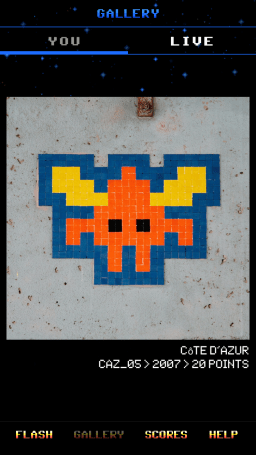 App Flash Invaders-Paris-street art