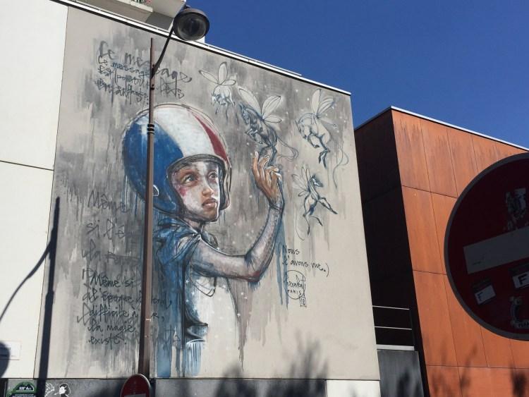 fresque mural Herakut à paris dans le 13ème arrondissement